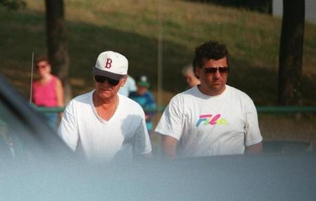 Whitey Bulger and Kevin Weeks seen walking at Castle Island in South Boston in 1994.