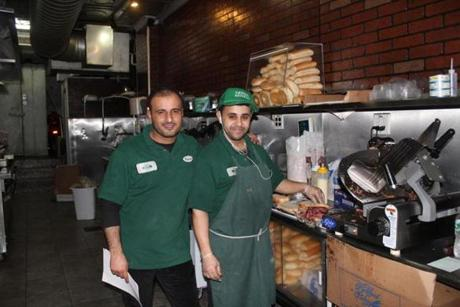 Riyadh Gazali (left) and Sultan Elsamet at David's Brisket House.
