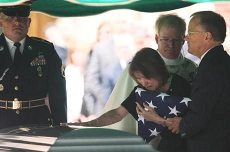 Brenda and Kirk Daehling mourned their son, US Army Specialist Mitchell K. Daehling, who was killed while serving in Afghanistan, during funeral services at St. Agnes Church in Dalton.