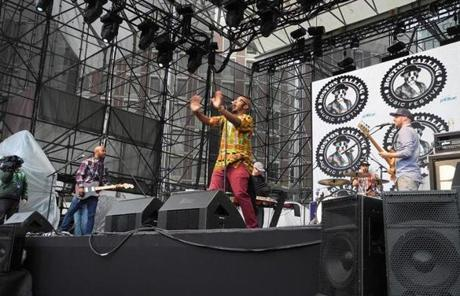 Bad Rabbits was the first act to start off the inaugural Boston Calling Music Festival.