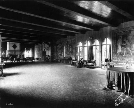 Tapestry Room, Isabella Stewart Gardner Museum. Photo by T. E. Marr and Son, 1926Facing southwestThe historic Tapestry Room looking southwest towards the fireplace on the gallery''s south wall and the windows overlooking the courtyard garden along the gallery''s west wall (at right).