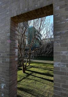BOSTON, MA. 12/ 09/ 2011: A view of looking into the couryard at The Gardner Museum's new wing. ( David L Ryan / Globe Staff Photo ) SECTION :ARTS TOPIC :GARDNERMUSEUM REPORTER