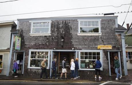 Shoppers enjoyed Kennebunkport during the holiday weekend.