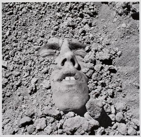 "David Wojnarowicz's self-portrait ""Untitled (face in dirt)."""