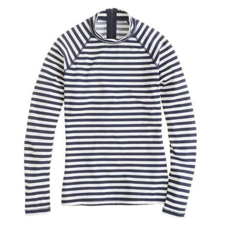 Stripe rash guard, $75 online only at jcrew.com