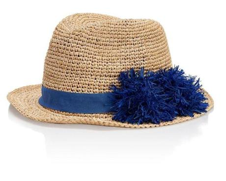 Raffia knit hat, $125 at Tory Burch, Copley Place, Boston, 617-867-9140, toryburch.com