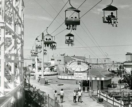 July 28, 1981: The Sky Ride provided a bird's eye view of the park.
