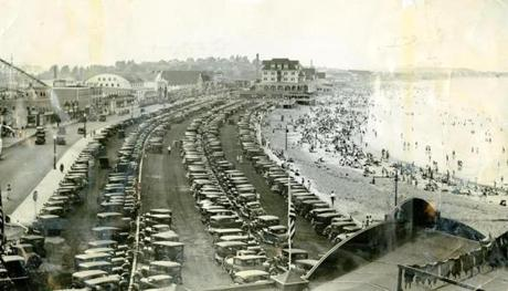 July 22, 1934: Thousands flocked to Nantasket Beach to escape the heat. Temperatures hovered around 90, but high humidity made a day at the beach much more enjoyable.