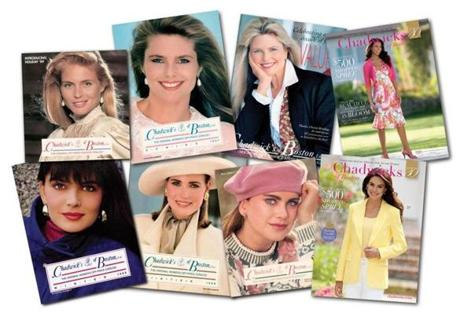 In its heyday, top models Christie Brinkley, Paulina Porizkova, Kathy Ireland, and Kim Alexis adorned the catalogs of Chadwicks of Boston. Today's catalogs feature a modern clothing line.