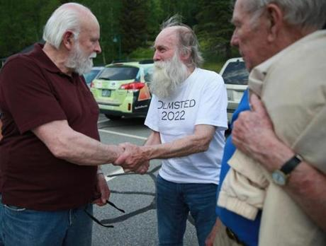 The stranger's identity was lost in the fog of memory, until Addison found the map last year and saw the name on the back: Guy Gosselin (left).