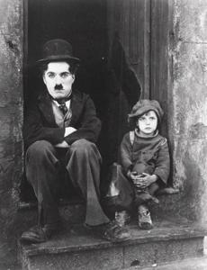 "A still from Charlie Chaplin's 1921 film, ""The Kid,"" with Jackie Coogan."