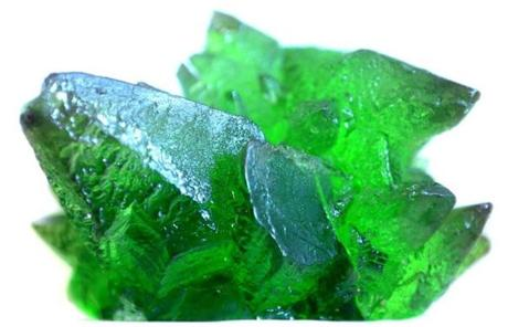 "Kryptonite crystals from the film ""Superman III."""