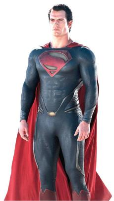 "Henry Cavill portrays Superman in ""Man of Steel."""