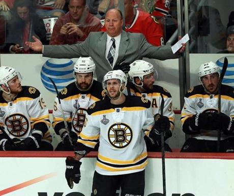 Bruins coach Claude Julien was left looking for answers after a disappointing Stanley Cup Final opener.