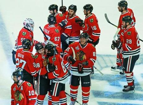 And it was a sweet, early-morning celebration for the Blackhawks.