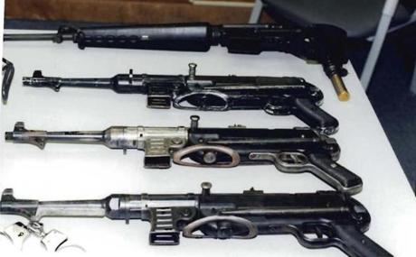 "These are some of the weapons the prosecution says were part of James ""Whitey"" Bulger's arsenal."