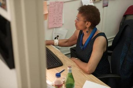 Denise Dabney is at retirement age but still working.