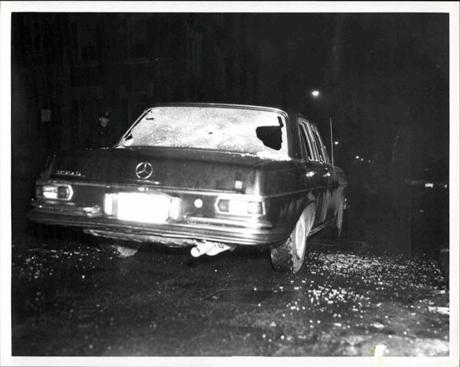 The killing of Alfred Notorangeli came after Martorano had already mistakenly shot and killed Michael Milano, a 30-year-old North End bartender who drove a car (pictured) similar to Notorangeli's, on March 8, 1973 in Boston.