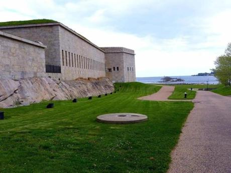 Fort Trumbull offers a commanding view of New London harbor.