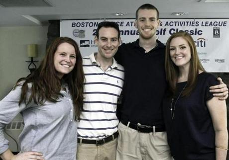 From left: Bridget Connelly of Medfield, John Connelly of San Diego, and Matt Connelly and Maura Connelly of Medfield.