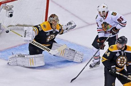 Tuukka Rask turned away all 28 shots he saw from the Blackhawks.