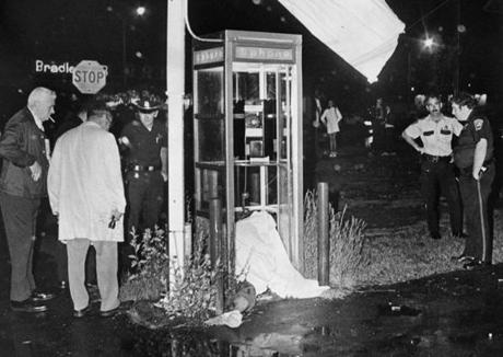 Edward Connors was shot dead in a phone booth in 1975.