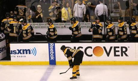 And the winning goal sent the Bruins to the dressing room searching for answers for what went wrong.