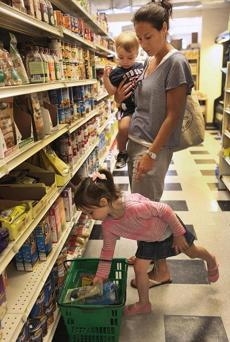 Kerri Rambow along with children, Nyla, 3, and Kallen, 22 months, shopped at Tilly & Salvy's.