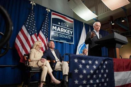 Biden also urged the crowd to work hard until the last minute.