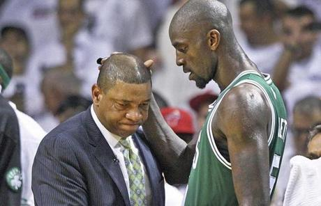 Kevin Garnett (right) is not part of the current deal with the Clippers.