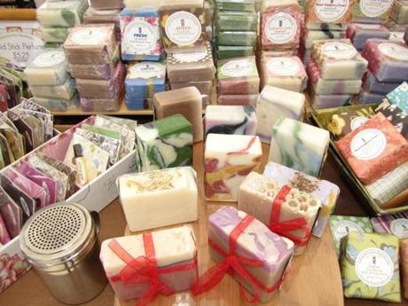 Soaps and candles are among Urban Kitchen Handmade items.