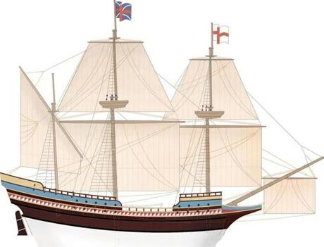 The Mayflower originally set sail from Harwich, but made an unscheduled stop farther down the English coast, in Plymouth, when its companion ship had leakage troubles.