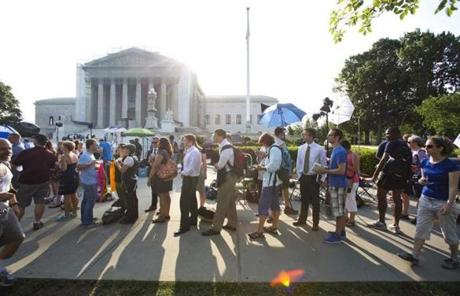 The Supreme Court ruled today on California's Prop 8 ban on same-sex marriage and the Defense of Marriage Act.