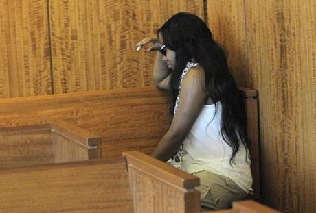 Shayanna Jenkins, Hernandez's fiancee, wept in the courtroom.