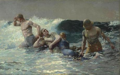 Winslow Homer (American, 1836–1910), Undertow, 1886. Oil on canvas, 29 13/16 x 47 5/8 in. (75.7 x 121 cm). Sterling and Francine Clark Art Institute, Williamstown, Massachusetts, 1955.4 07homer Sterling and Francine Clark Art Institute
