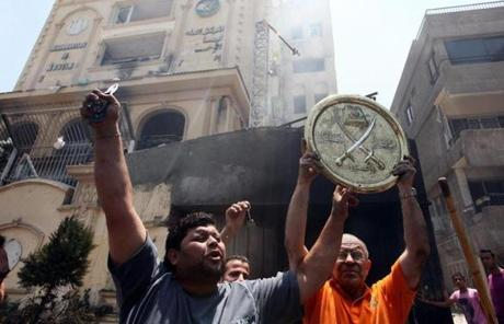 Protesters stormed and ransacked the Cairo headquarters of President Mohammed Morsi's Muslim Brotherhood.