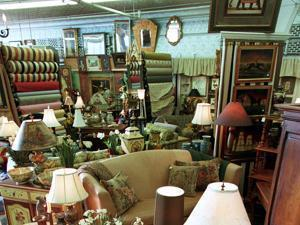Zimman's second-floor emporium of carpets, lamps, and furniture, as it looked in 1998.