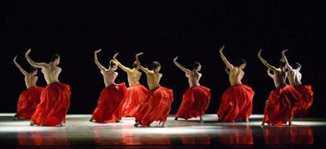 "Boston Ballet in for ""Bella Figura"" this past July in London."