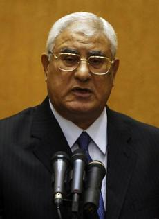 Chief Justice Adly Mansour is Egypt's interim president.