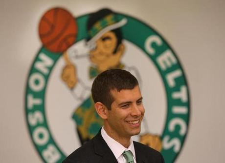 Brad Stevens was introduced Friday as the 17th coach in Celtics history.