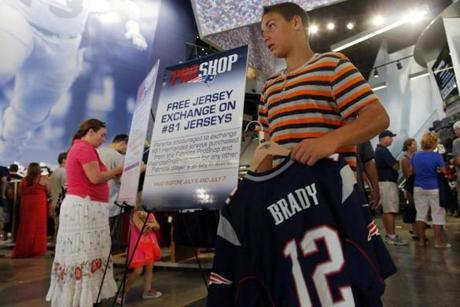 The Patriots offered the jersey exchange after Hernandez was arrested and charged with murder.