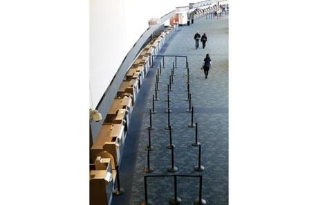People walked through a terminal as some flights resume at San Francisco International Airport.