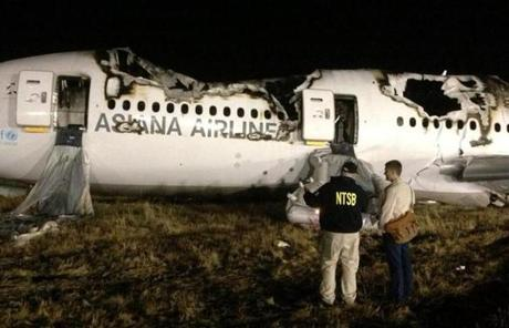 Investigators conducted a first site assessment overnight of the plane.