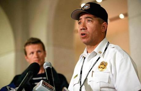 San Francisco Fire Department Airport deputy chief Dale Carnes addressed the press Saturday night.