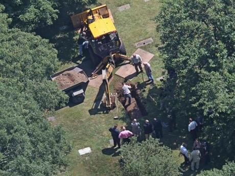 The body of confessed Boston Strangler Albert DeSalvo were exhumed from his grave at the Puritan Lawn Memorial Park Cemetery in Peabody in order to get a DNA sample for testing.