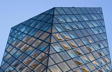 The futuristic Prada store was designed by Swiss architects Herzog & de Meuron.