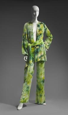 5. Woman's ensemble in (3) parts Roy Halston Frowick, known as Halston (American, 1932Ð1990) about 1970 silk velvet; tie-dyed * Museum purchase with funds donated anonymously * Photograph © Museum of Fine Arts, Boston -- 18hippie