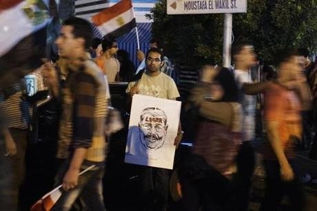 A protest at the Egyptian Presidential Palace calling for Morsi's ouster on July 1.