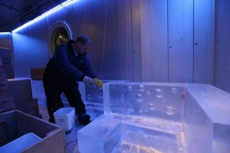 Frost Ice Bar at Faneuil Hall will be kept at a nose-numbing 21 degrees year-round.