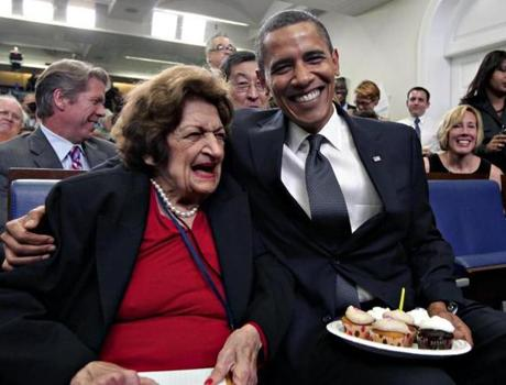 Thomas celebrated her 89th birthday on Aug. 4, 2009, with President Obama, who turned 48 that day.